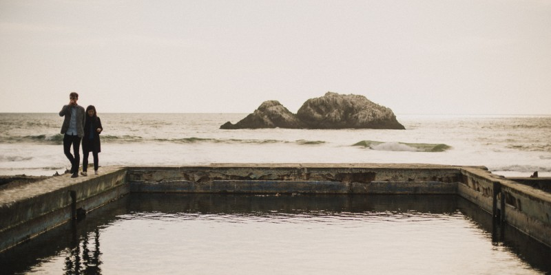 Lands End Sutro Baths Engagement by California Wedding Photographer Daring Wanderer