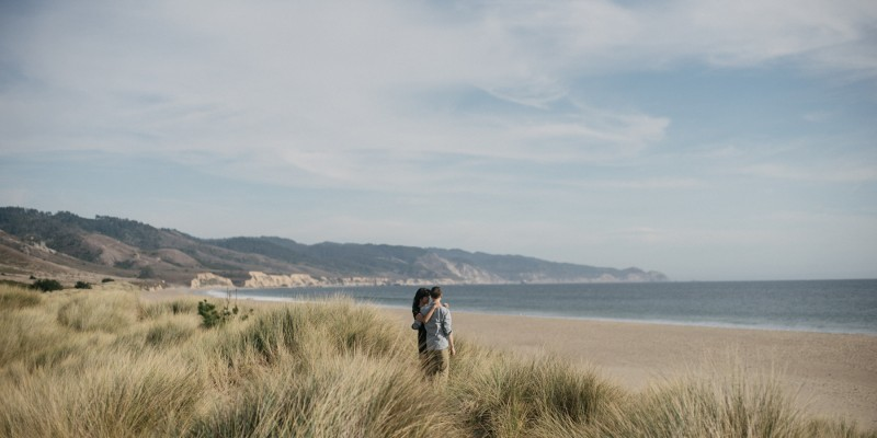 Point Reyes engagement at Limantour Beach by California wedding photographer Daring Wanderer