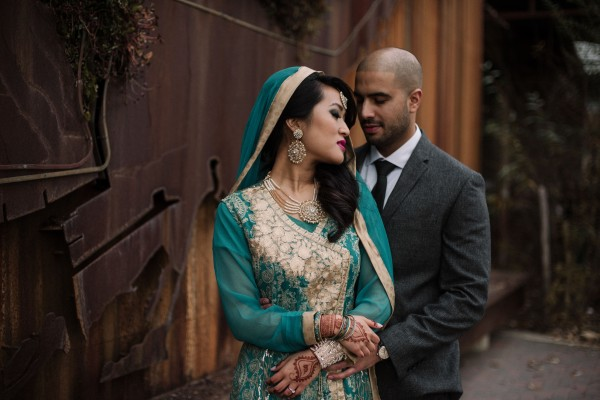 Evergreen Brickworks engagement in hindu wedding outfits by Daring Wanderer