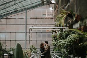 Daring Wanderer // Botanical greenhouse engagement at Cloud Gardens