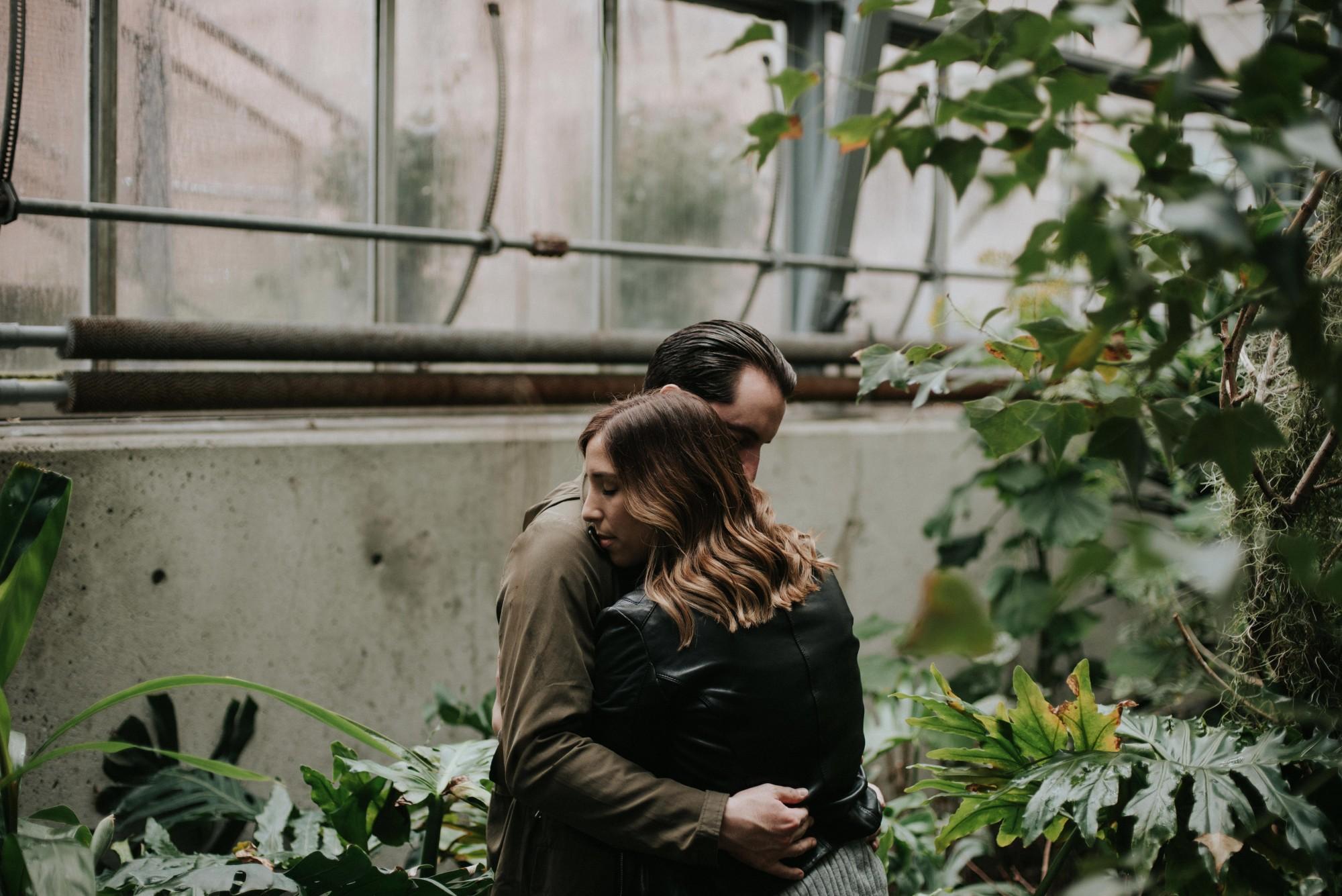 Daring Wanderer Toronto engagement shoot at Cloud Gardens
