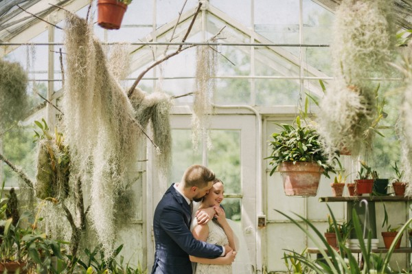 Botanical greenhouse Sonnenberg Gardens wedding by destination wedding photographer Daring Wanderer