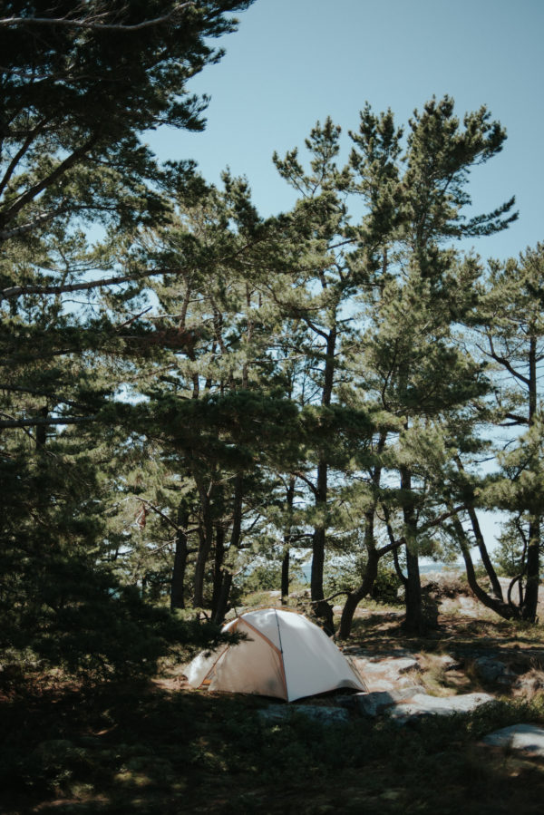 Camping on Philip Edward Island in Ontario by Daring Wanderer