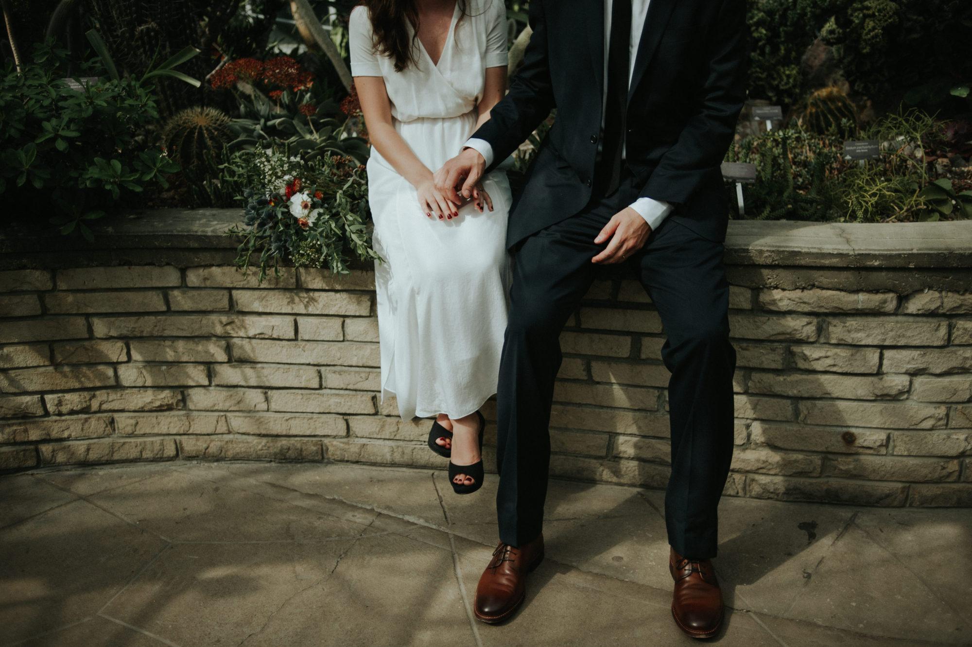 Secret elopement at Allan Gardens by Daring Wanderer // www.daringwanderer.com