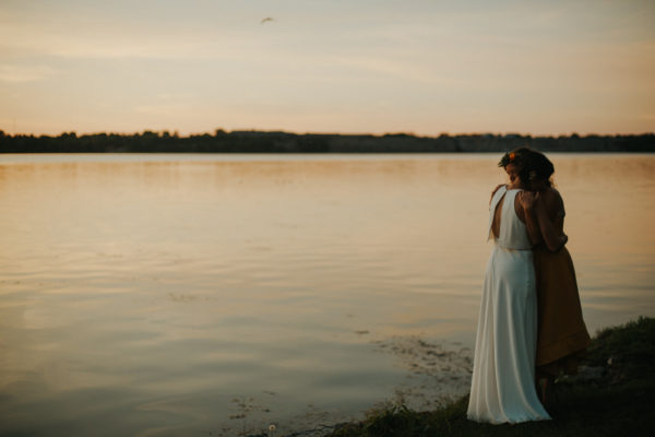 Intimate same-sex backyard Prince Edward County Wedding by Daring Wanderer