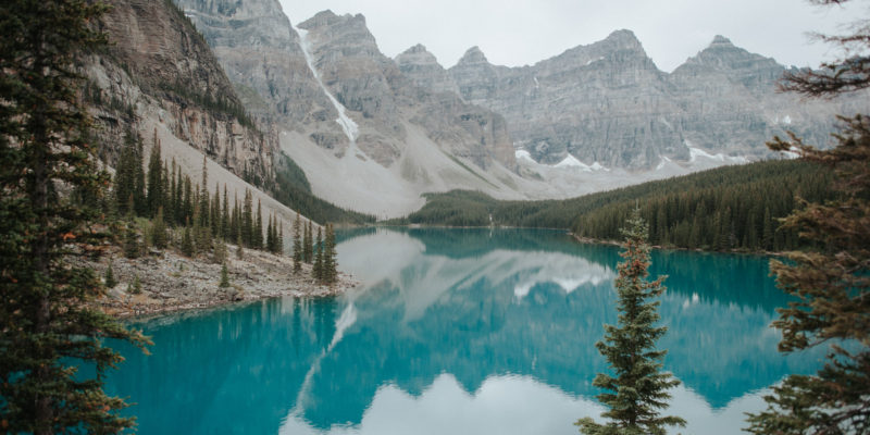 Moraine Lake in Banff National Park // www.daringwanderer.com