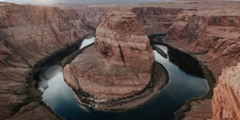 Horseshoe Bend at sunset by Arizona travel photographer Daring Wanderer