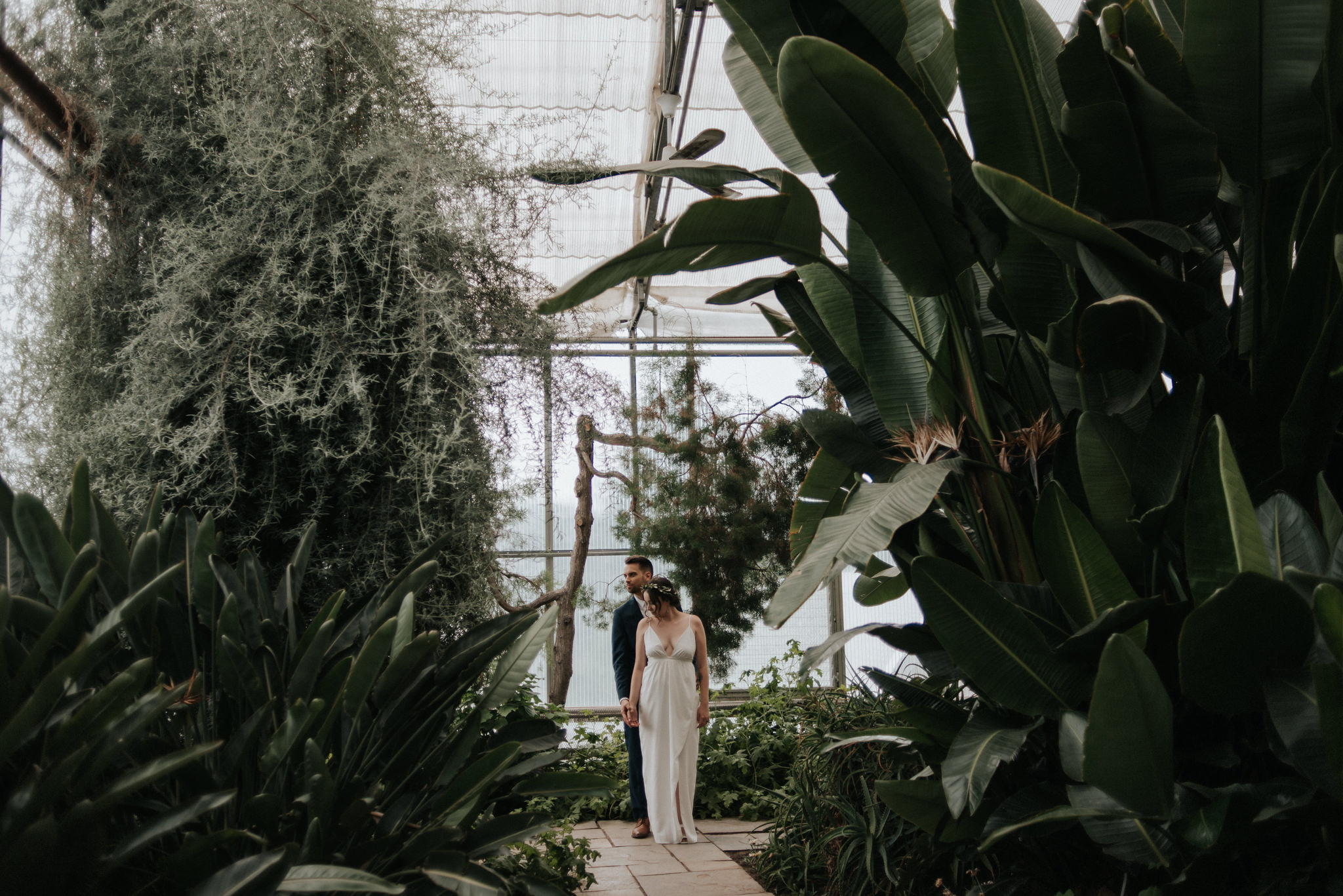 Botanical gardens photographed by Canadian Elopement Photographer Daring Wanderer