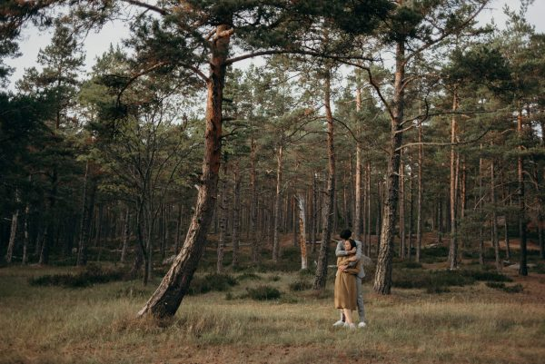 couple in forest in Helsinki