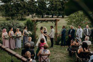 Backyard wedding in Toronto