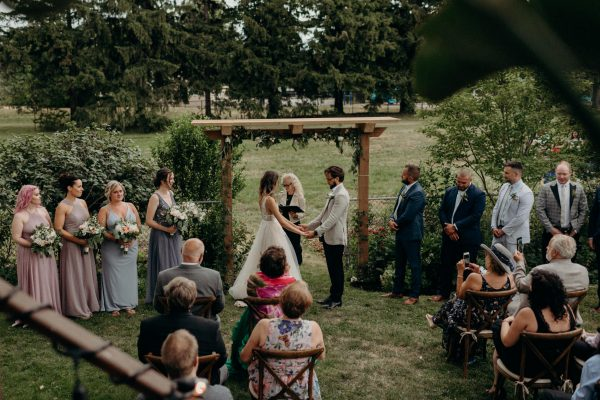 Backyard wedding in Toronto
