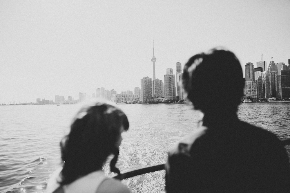 Daring Wanderer Photography - Daring Wanderer - Toronto Islands - Ferry - Toronto Islands Engagement - couple - Toronto - Lake Ontario - Lake Ontario Engagement - Ward Island - Ward Island Engagement Photography - floral crown on puppy - Picnic engagement shoot - Toronto Islands picnic engagement - Toronto wedding photographer - Toronto engagement photographer