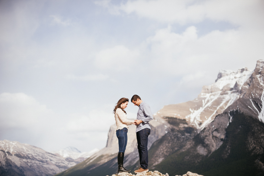 Daring Wanderer Photography - Daring Wanderer - Winter engagement - Banff Engagement - Spray Lakes Engagement - Lake Minnewanka Engagement - alberta engagement photographer - alberta wedding photographer - canmore engagement - winter banff engagement - mountain engagement - bow valley provincial park - banff national park