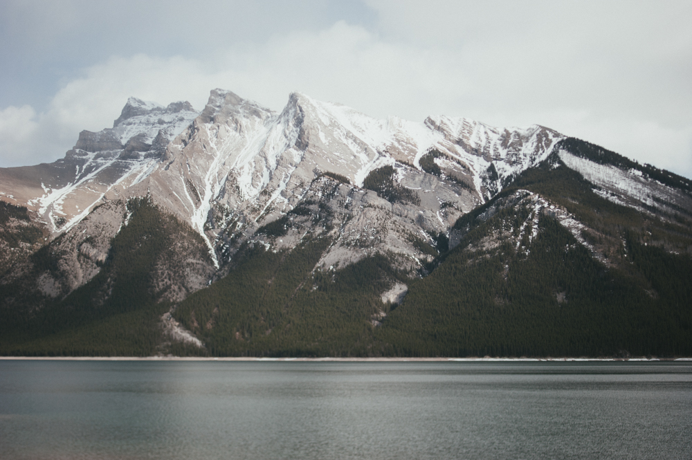 Mountain view of Lake Minnewanka, Banff