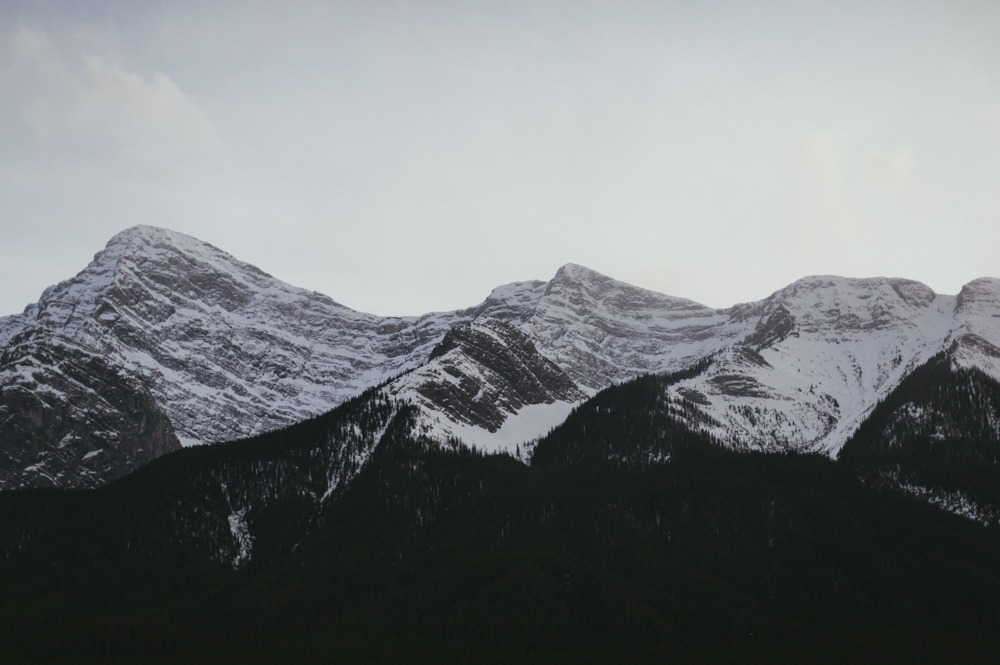 Mountains in the winter, Alberta