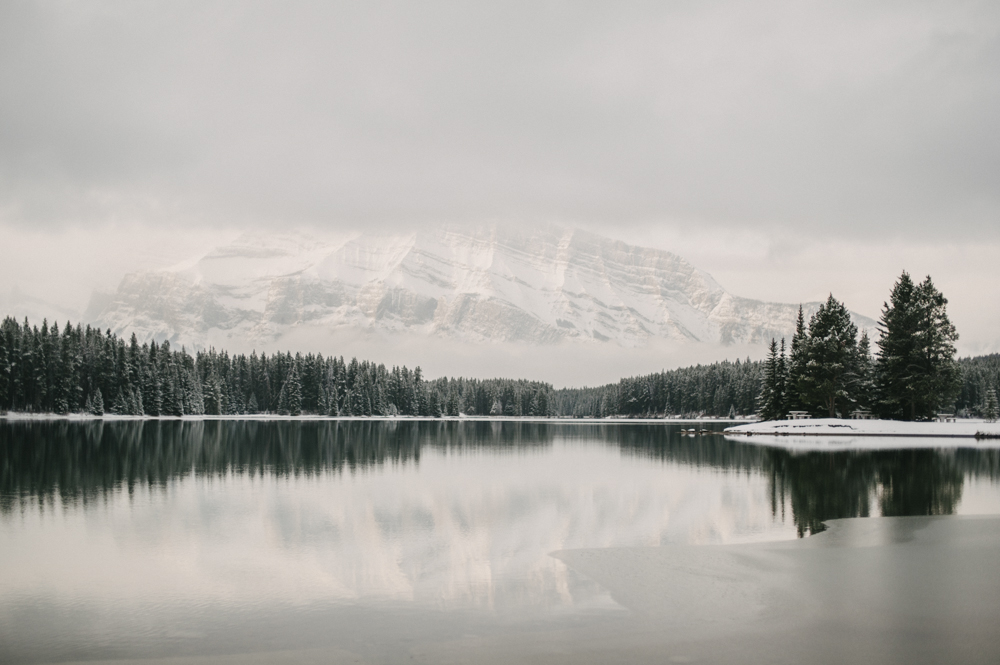 Wintery landscape at Two Jack Lake