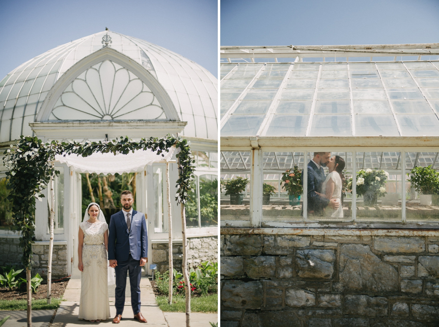 Botanical Greenhouse Wedding at Sonnenberg Gardens // Daring Wanderer