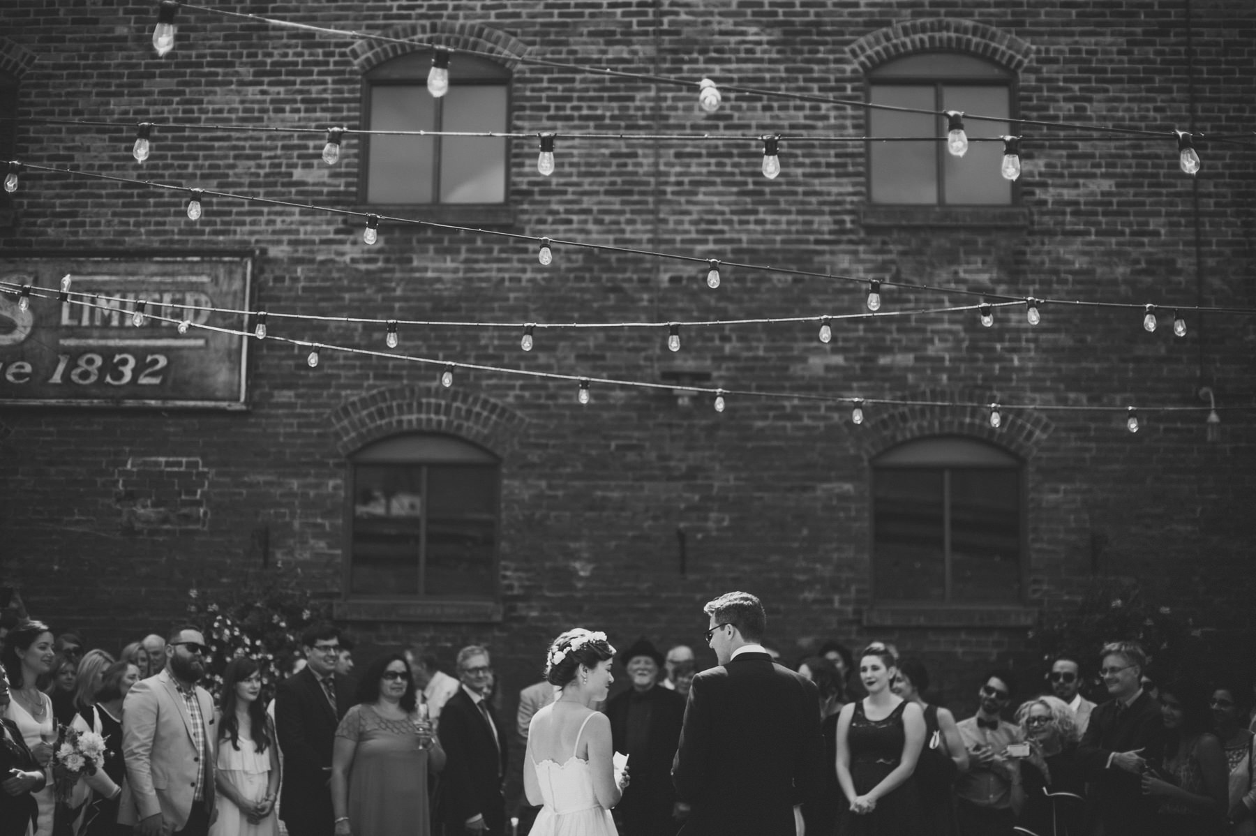 Daring Wanderer Photography - Daring Wanderer - Toronto wedding photographer - Archeo Wedding - Distillery District wedding - Archeo Distillery District - Rustic wedding venue - red brick wall - enoch turner school house wedding - toronto wedding ceremony location - toronto wedding locations - couples - love - together - canadian wedding photographer - ontario wedding photographer - intimate wedding