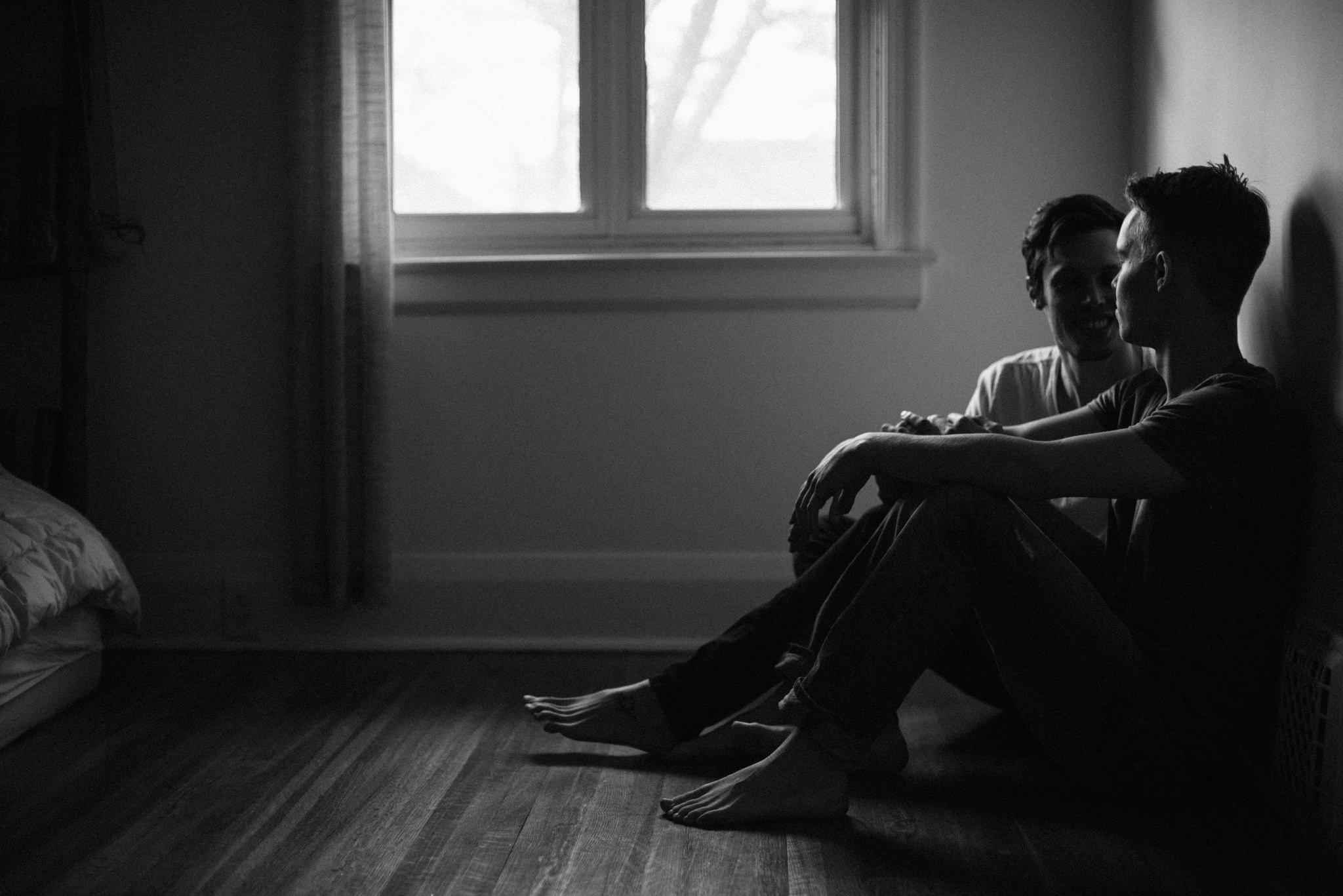 Daring Wanderer Photography - Daring Wanderer - Toronto portrait photographer - same sex couple - gay couple portraits - same sex male couple - intimate - couples session - intimate same sex portrait session - intimate couples session - bedroom shoot - love - lovers shoot