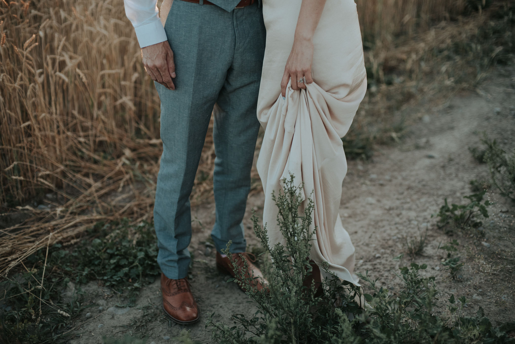 An intimate bohemian outdoor farm wedding at South Pond Farms // Daring Wanderer: www.daringwanderer.com