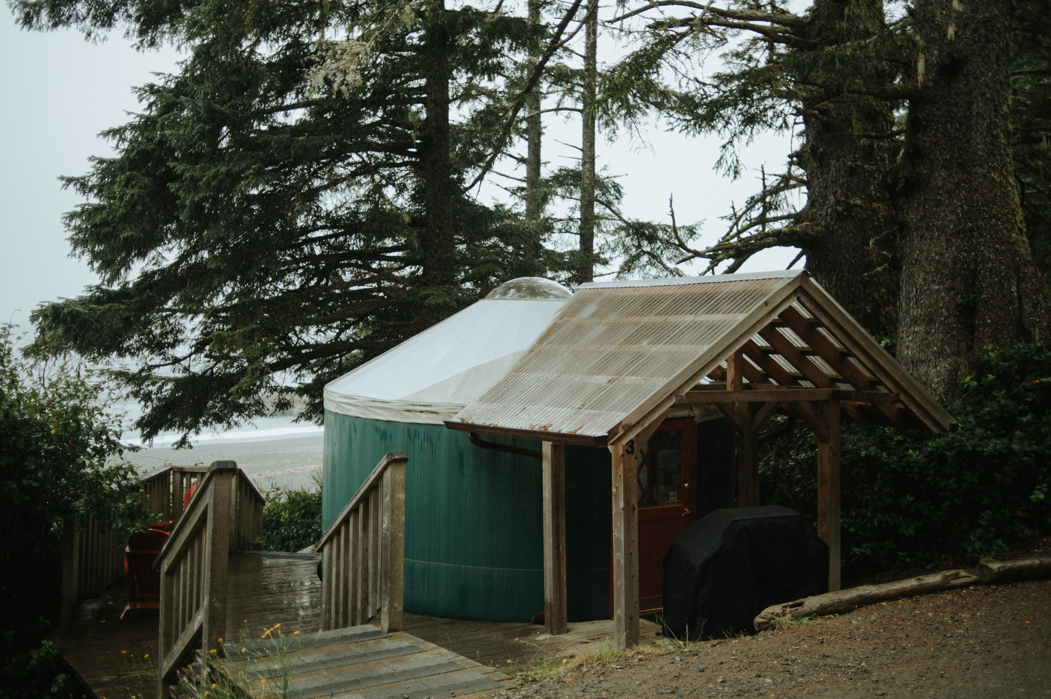 Camping in a yurt at Wya Point Resort in Ucluelet, BC // Daring Wanderer: www.daringwanderer.com