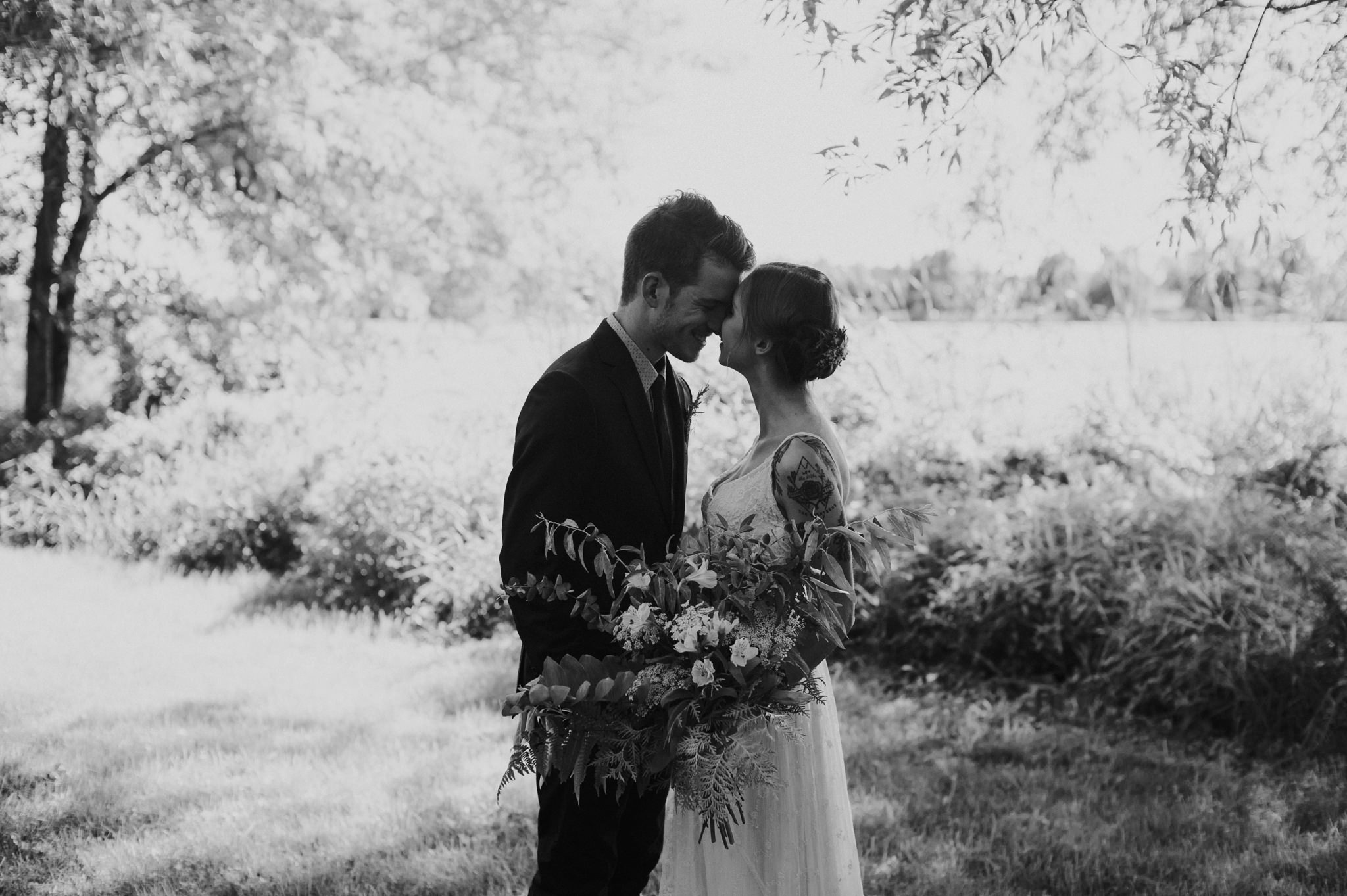 Intimate Rideau Hill Camp wedding by Daring Wanderer