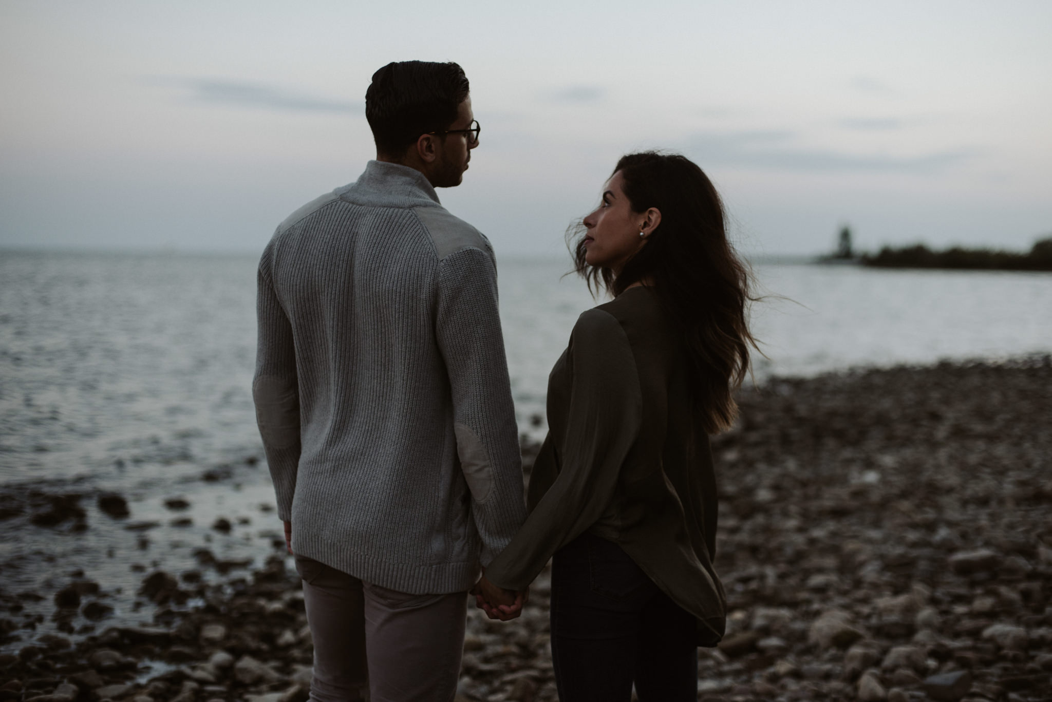 Dreamy Cherry Beach Portraits with some lovers at sunset // Toronto wedding photographer Daring Wanderer