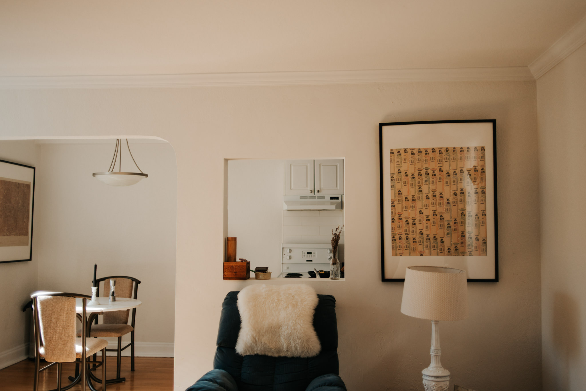 Morning light in hipster apartment