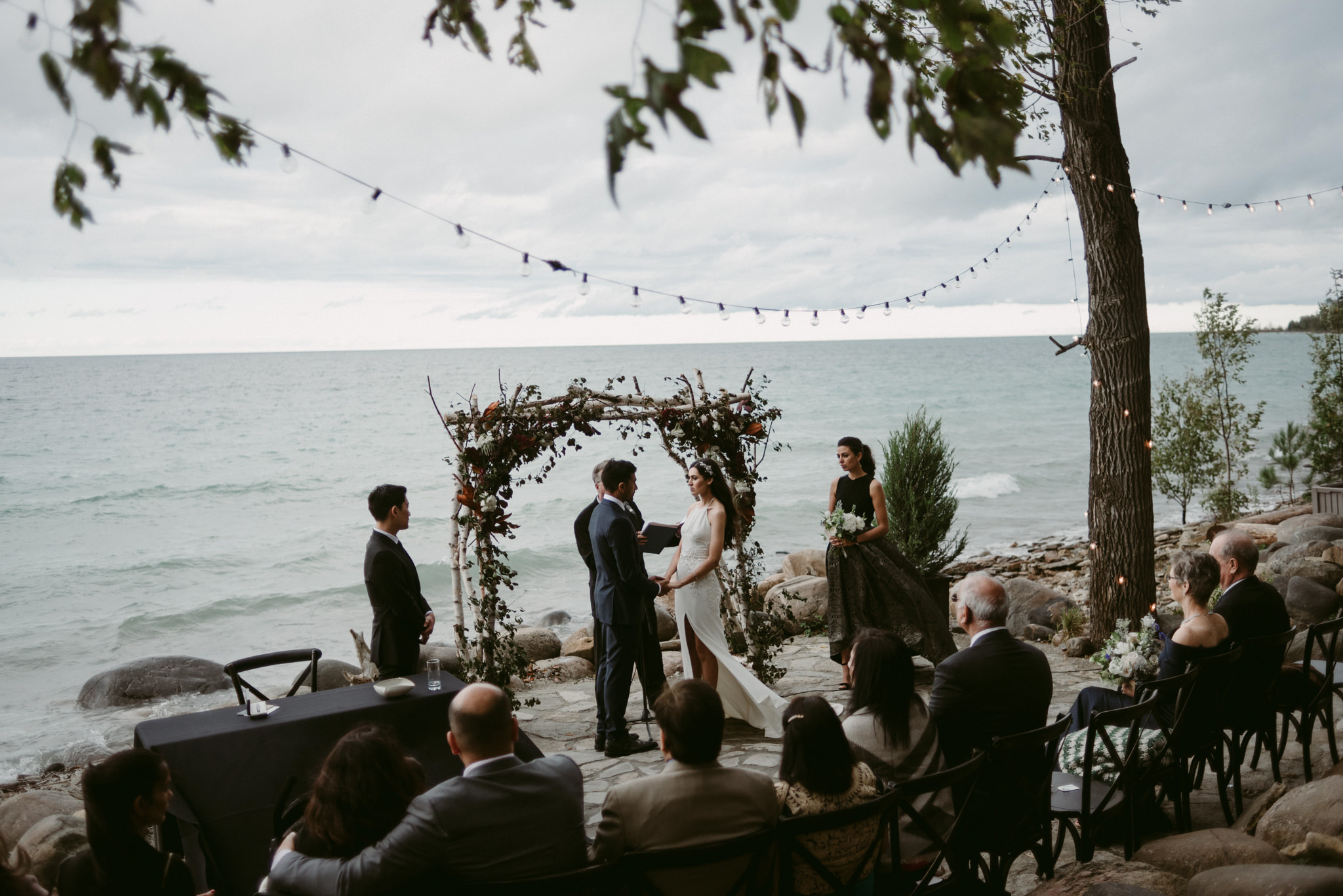 outdoor wedding ceremony at serenity cottage wedding