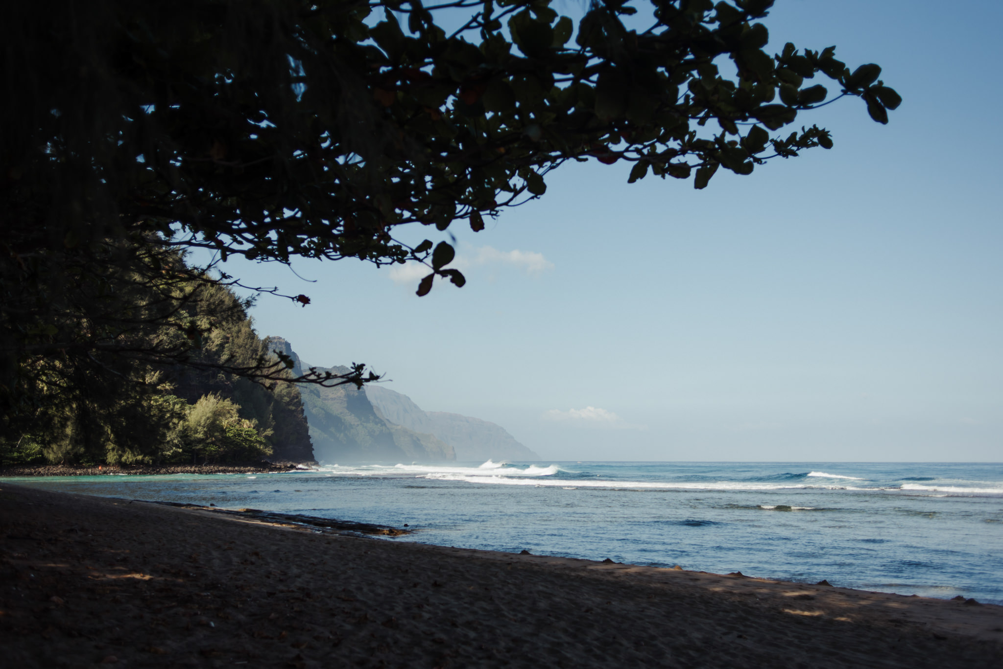Ke'e beach in Kauai