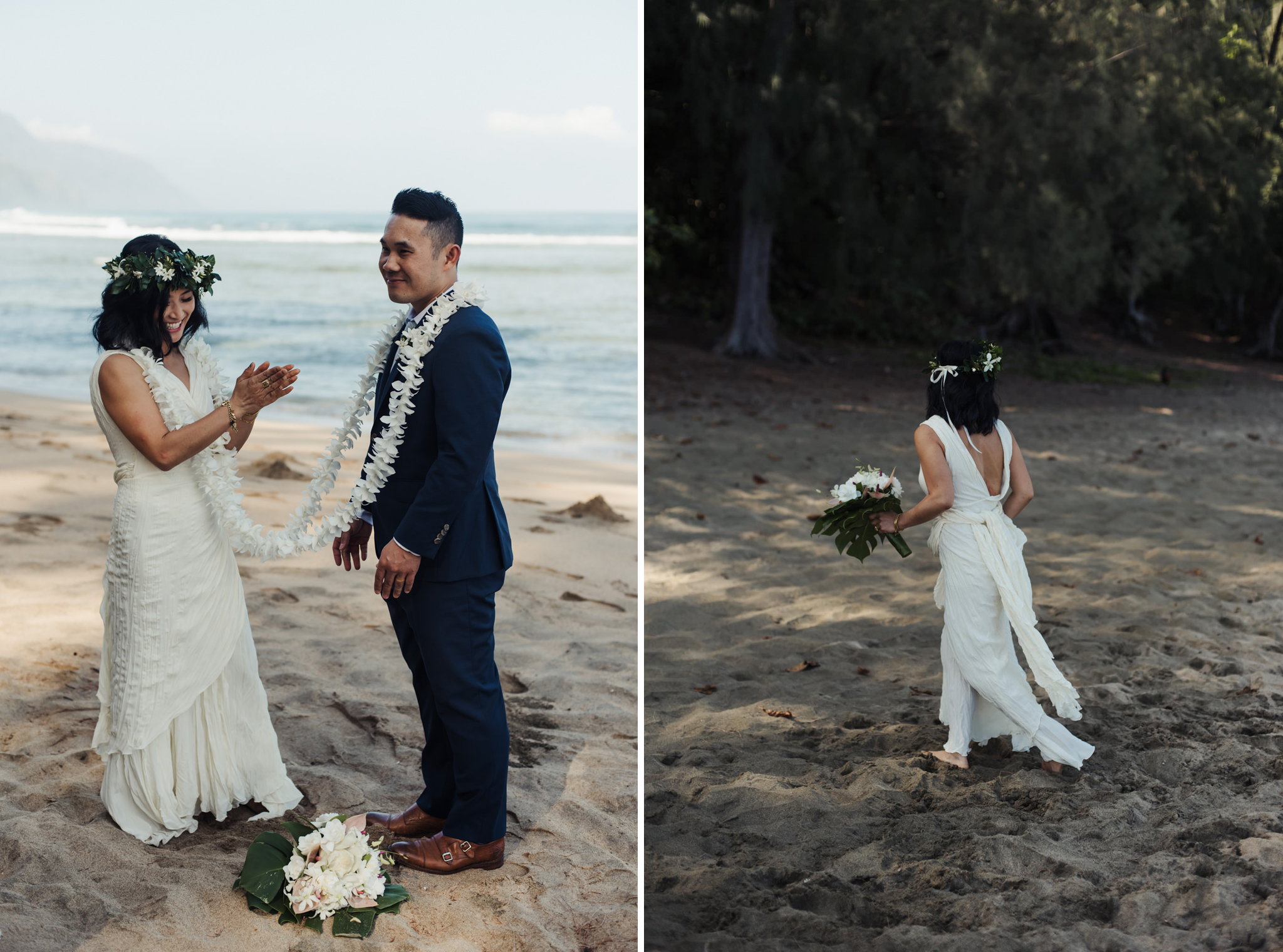 kauai elopement beach ceremony
