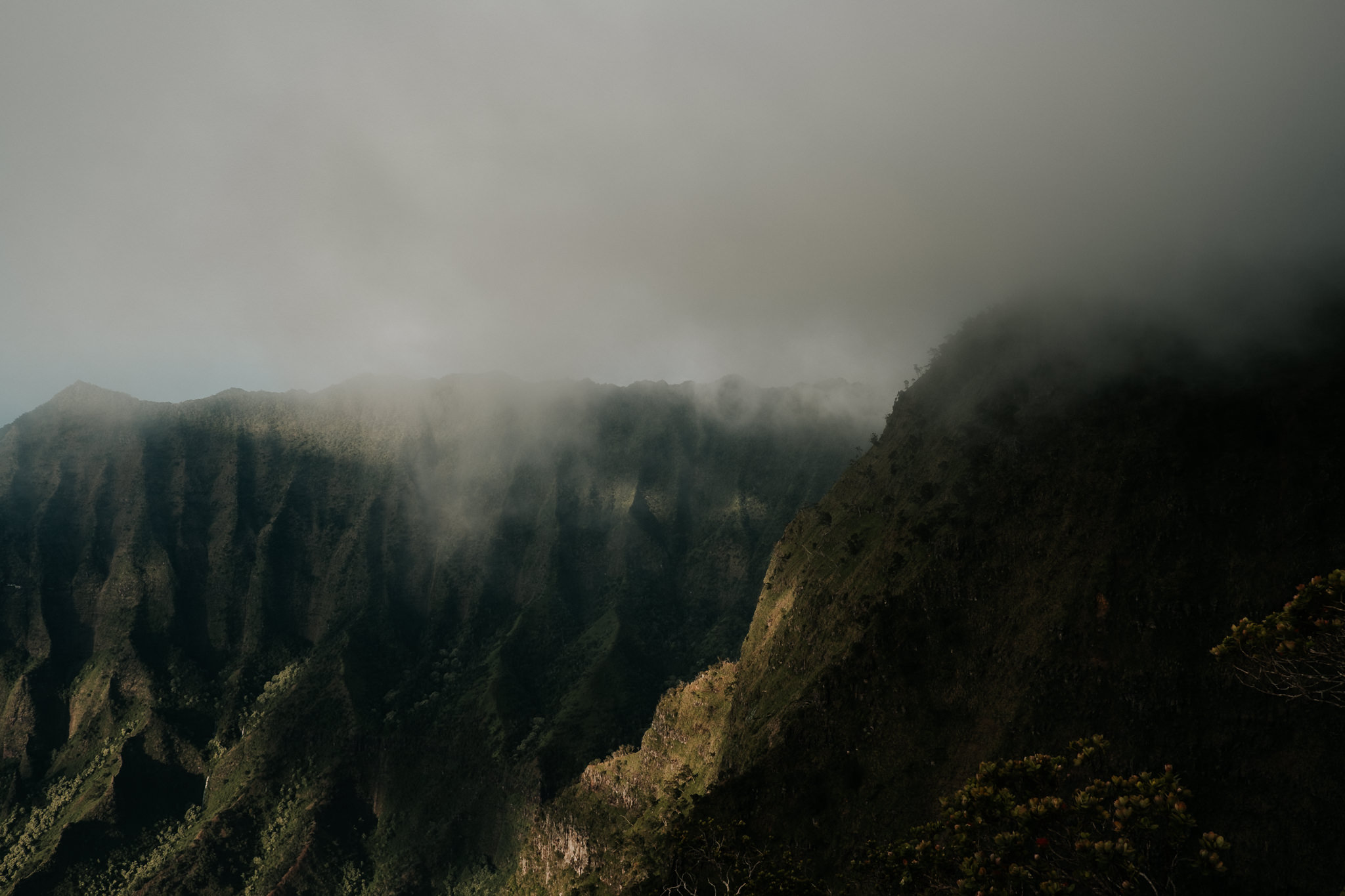 na pali coast in fog