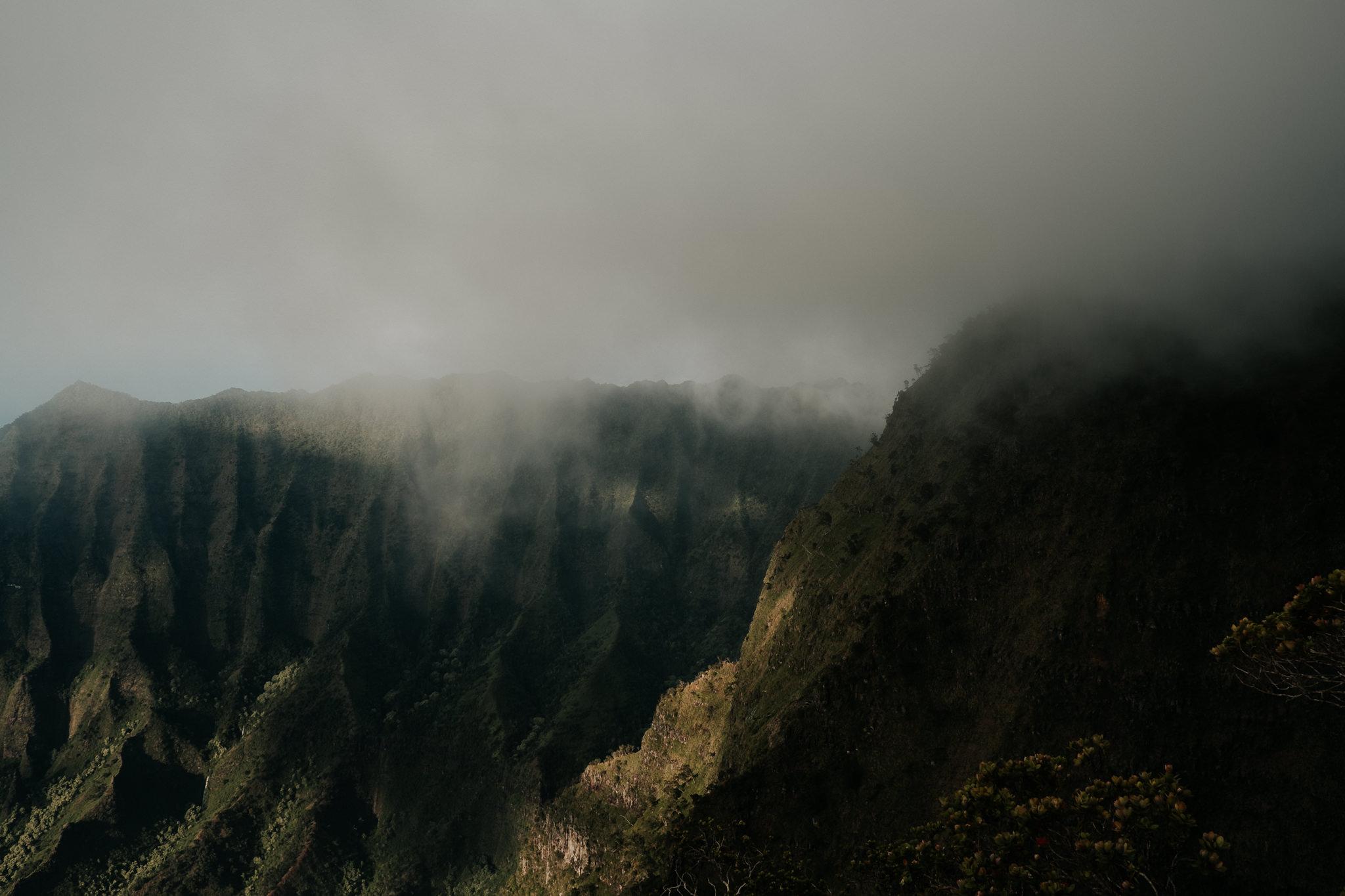 na pali coast in fog