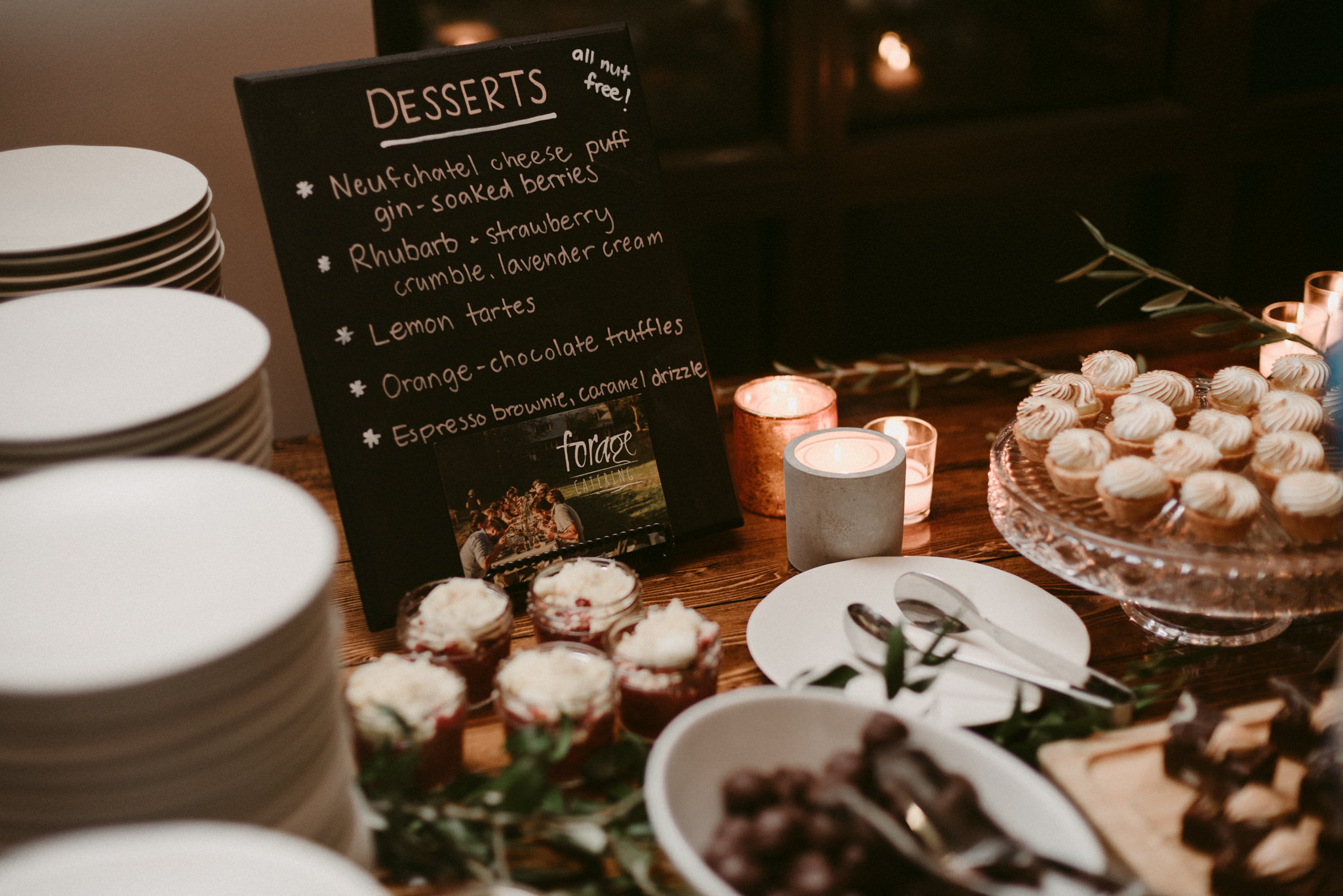 dessert table at wedding