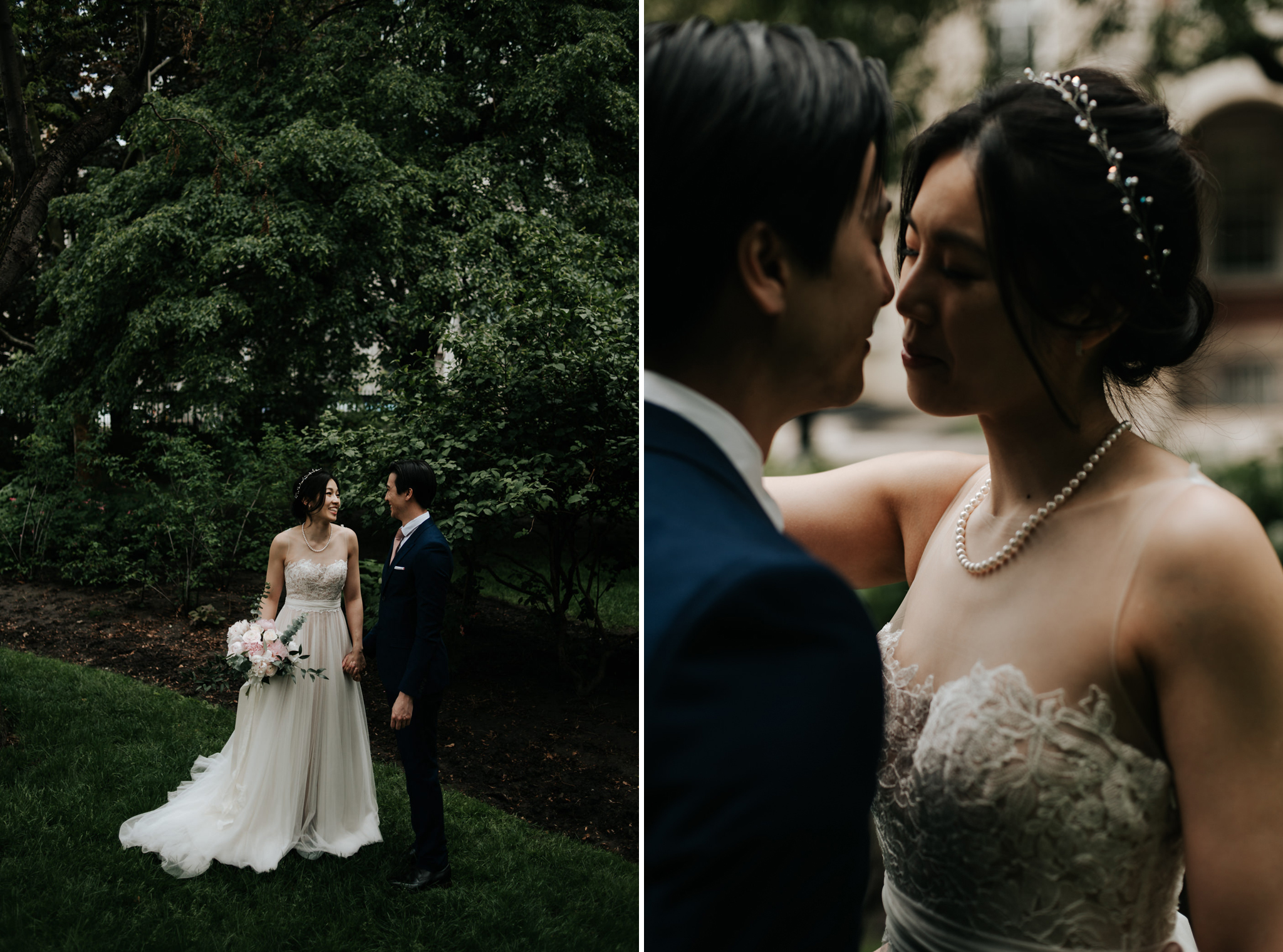 couple on wedding day at Osgoode Hall