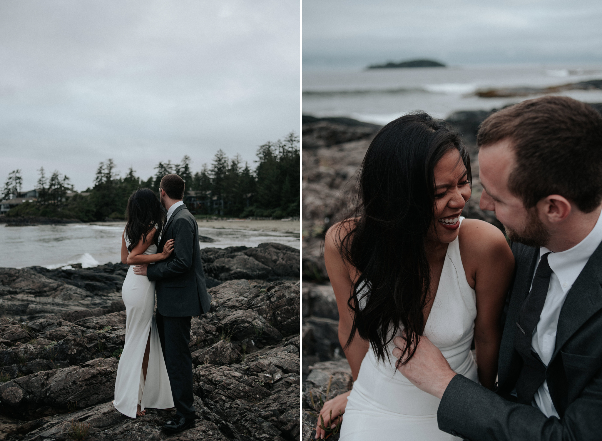 Wedding portraits on Chesterman Beach