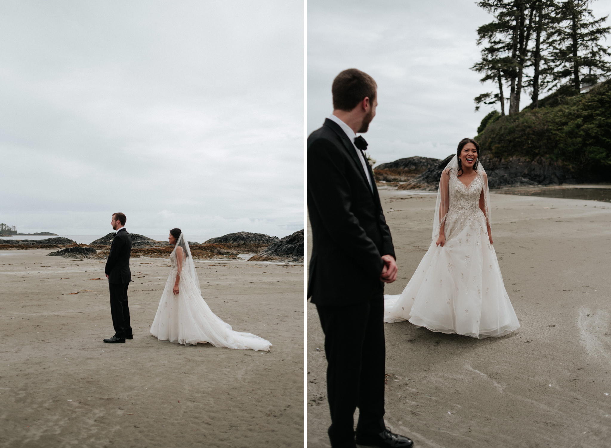 first look on Chesterman Beach in front of Wickaninnish Inn