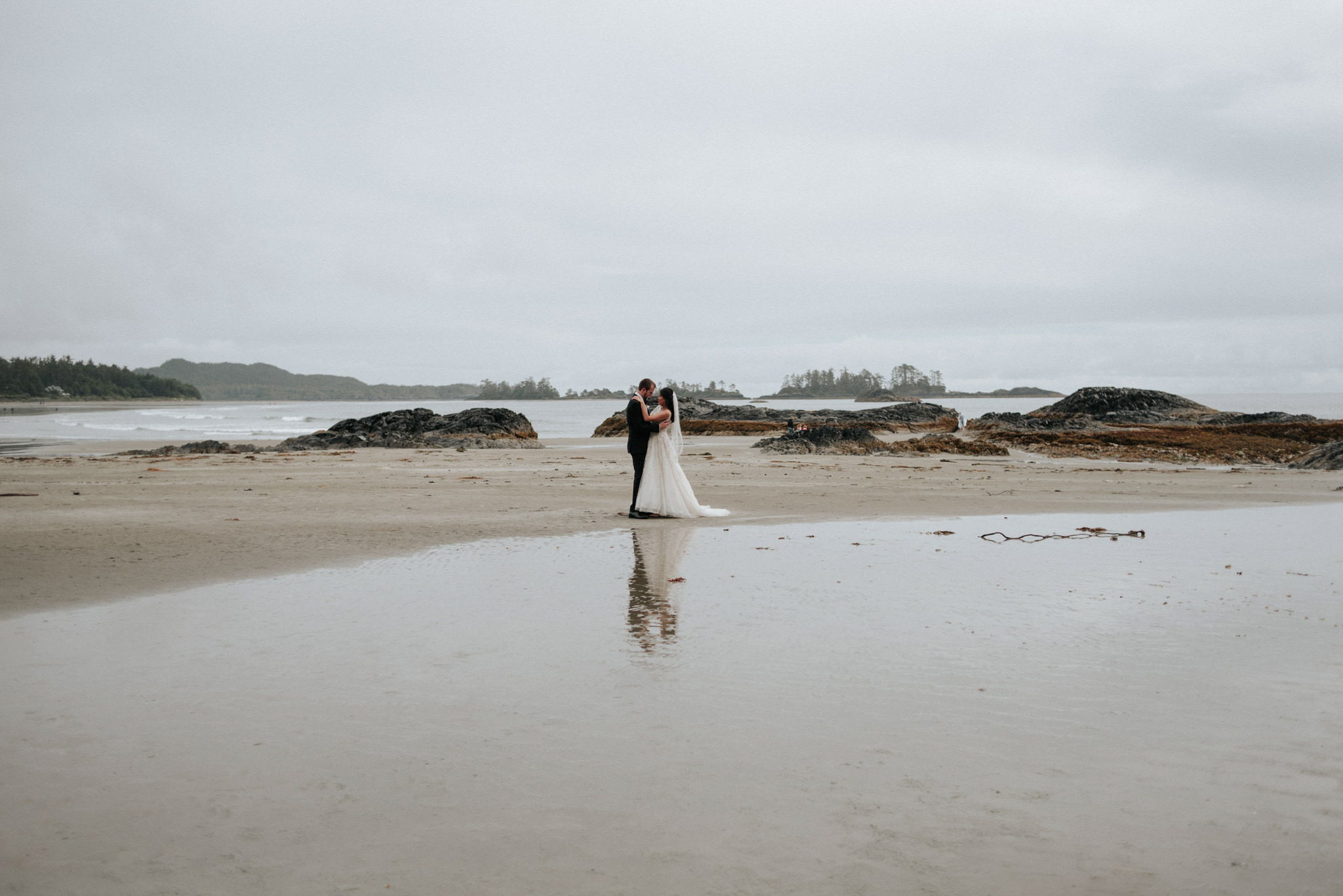 wedding portraits on Chesterman beach for Tofino elopement