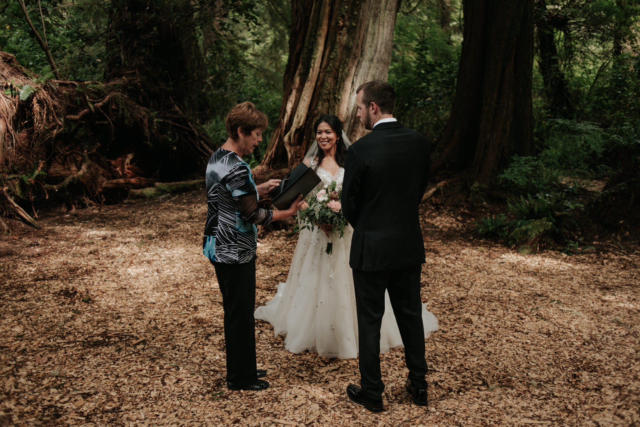 Tofino elopement ceremony at Wickaninnish Inn