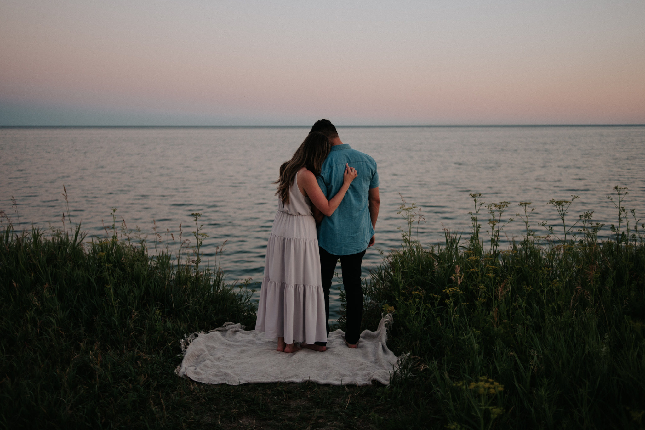 Lake Ontario sunset engagement