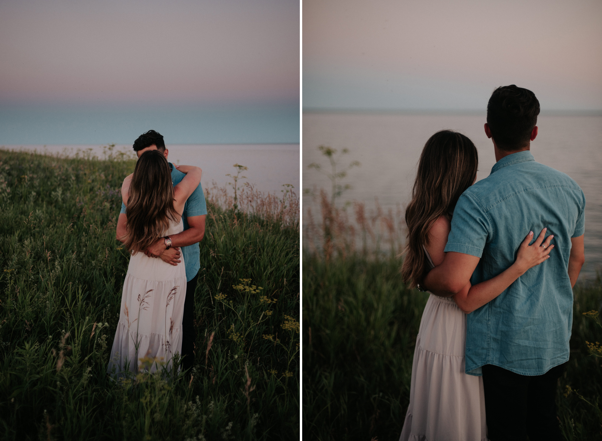 fun Lake Ontario engagement shoot