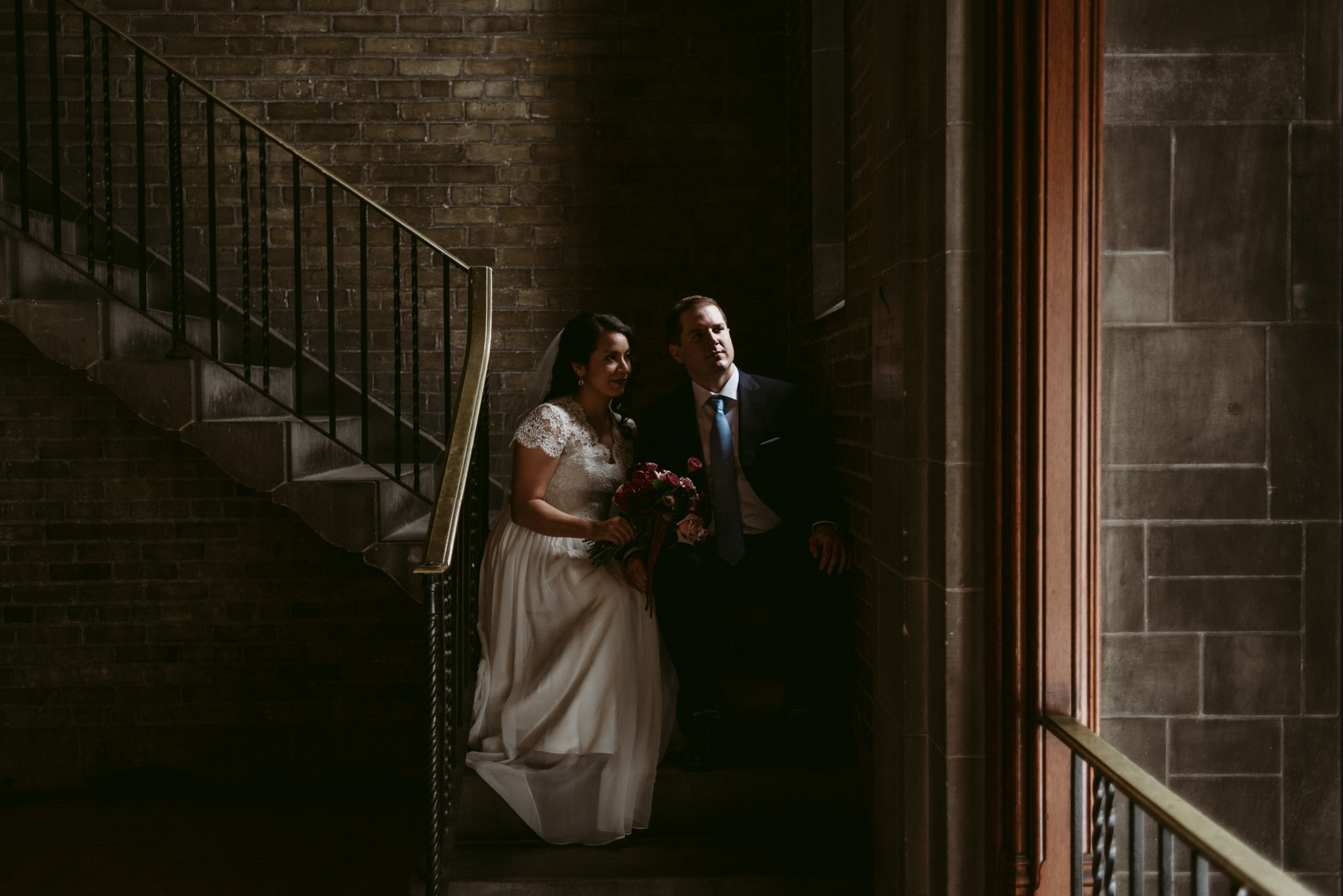 Wedding portraits at Hart House wedding
