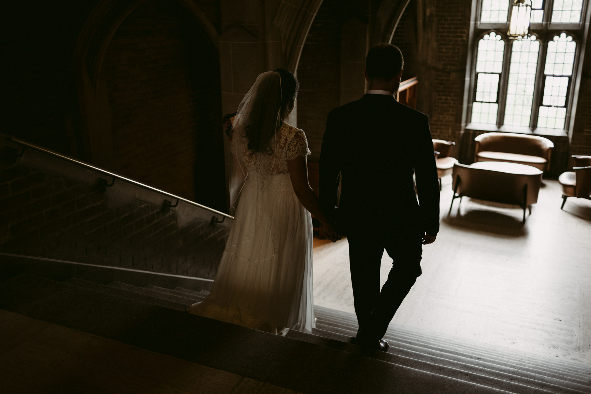 Wedding portraits with bride and groom at Hart House wedding