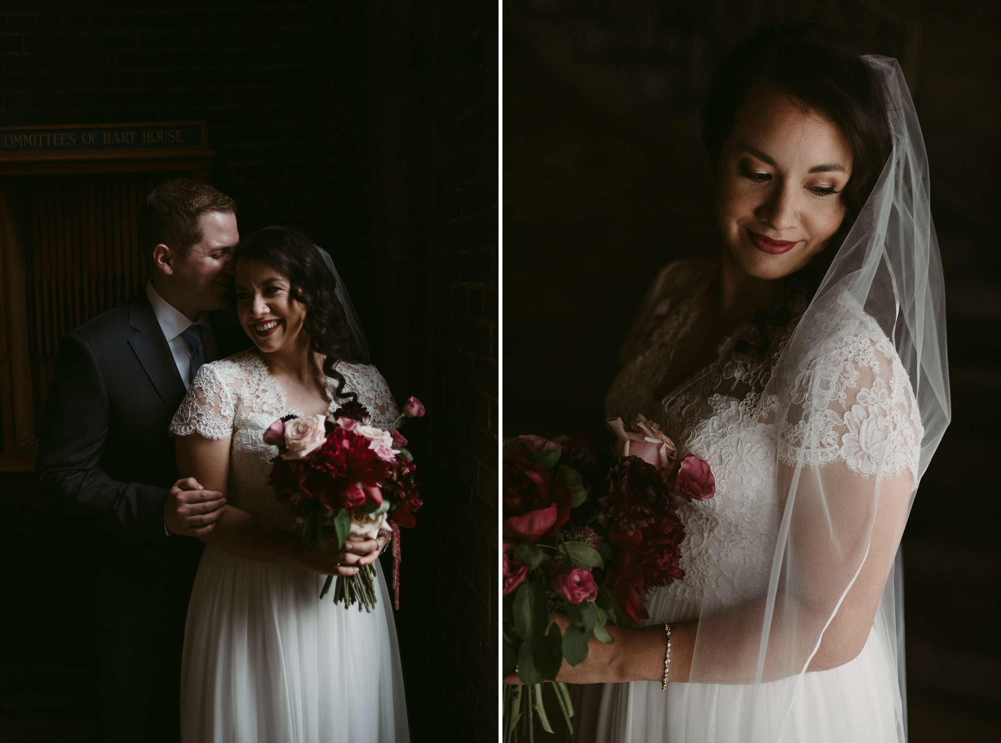 Wedding portraits inside Hart House