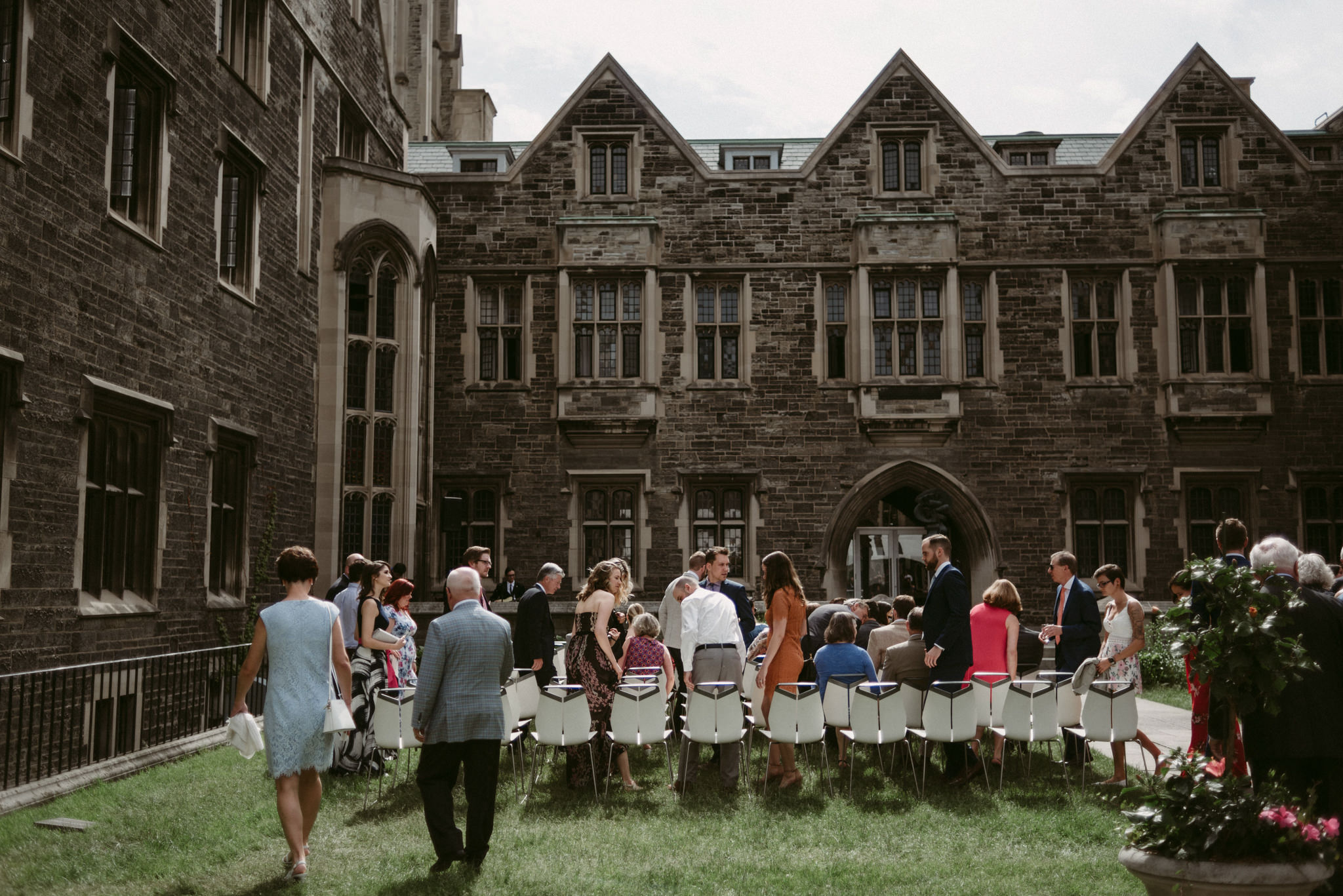 Hart House Wedding ceremony in courtyard