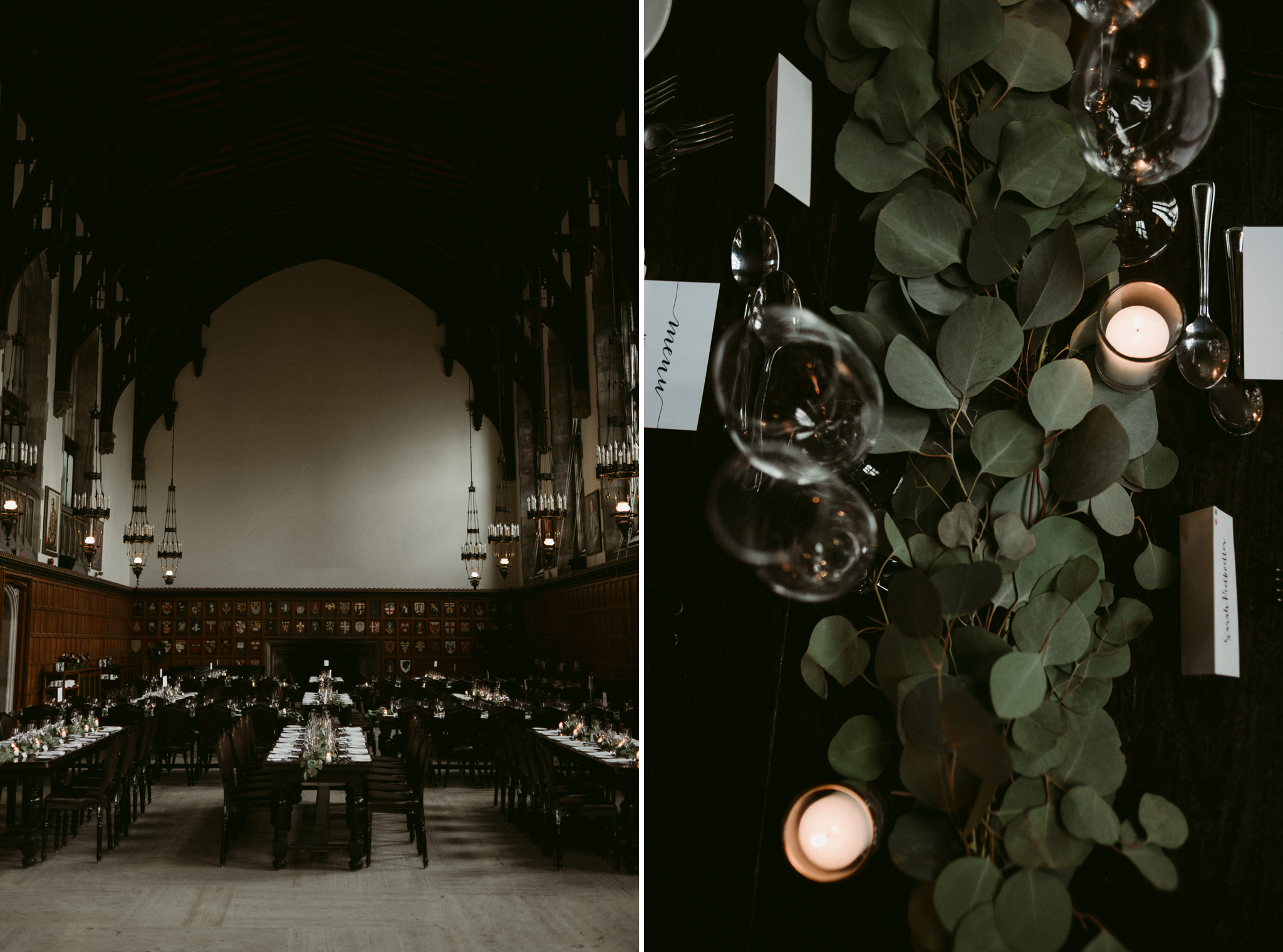 Romantic wedding reception at Hart House