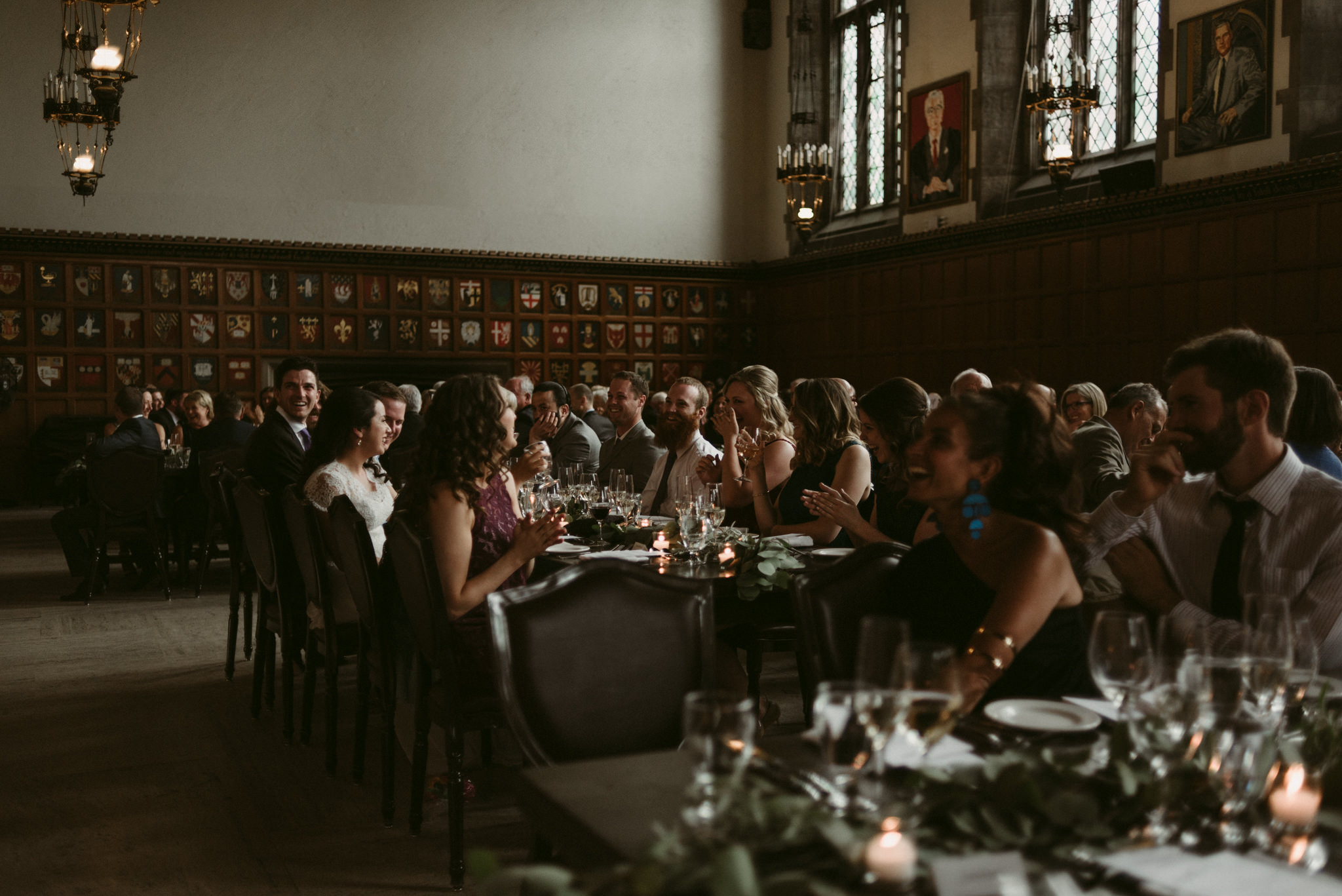 Speeches during reception at Hart House