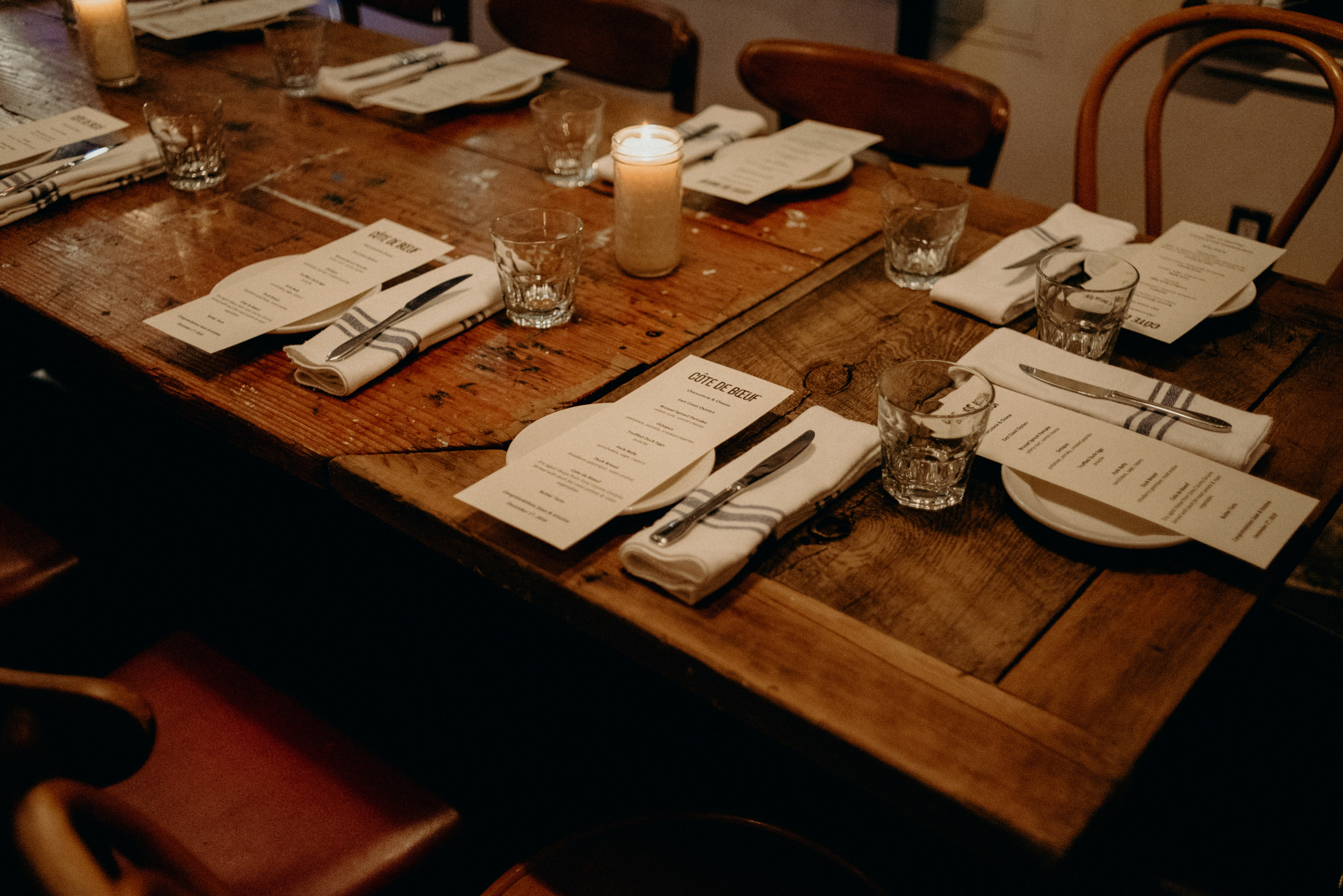 Cote de Boeuf Ossington wedding reception