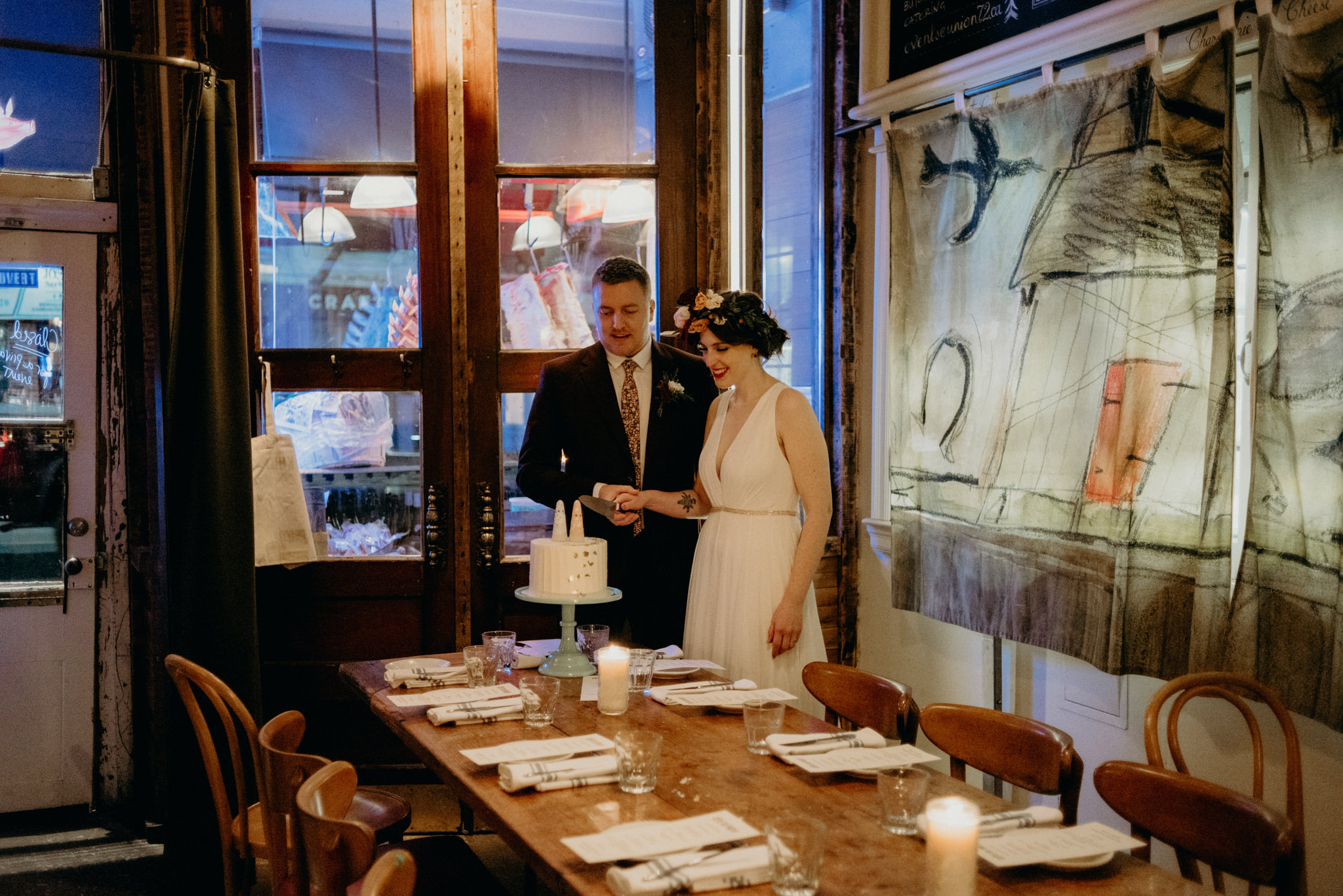 Cote de Boeuf wedding reception, intimate wedding in Toronto