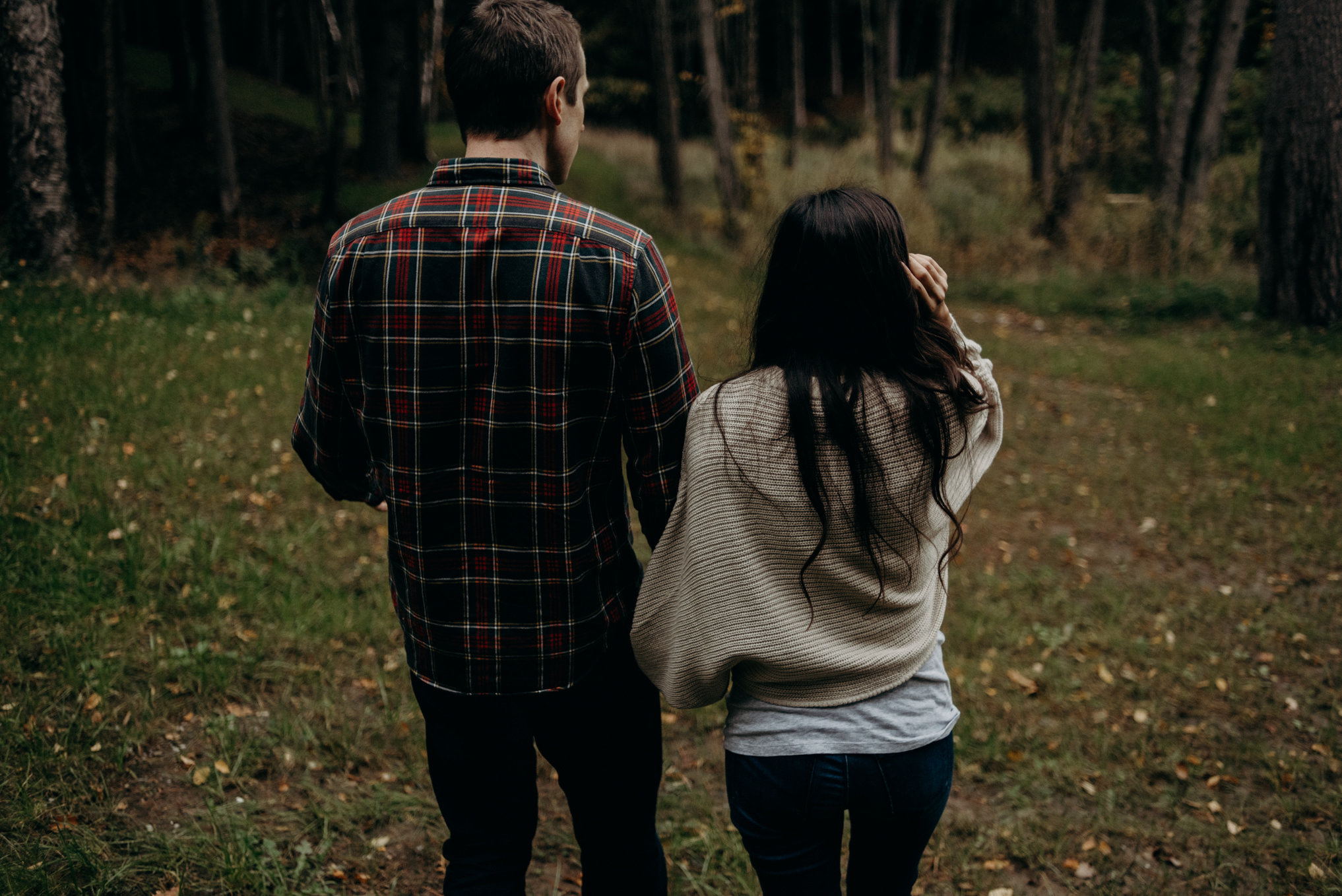 Fall couple shoot in the woods